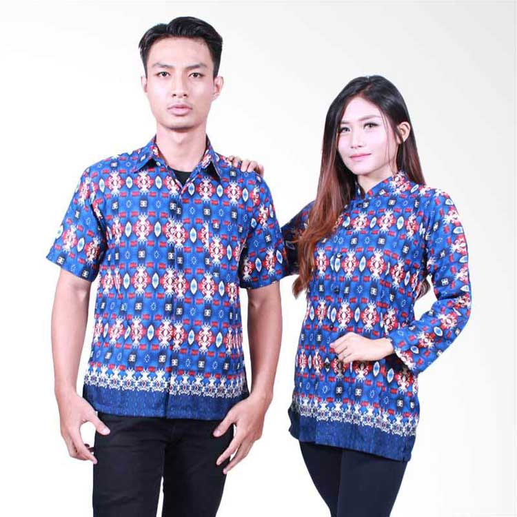 √ 30+ Model Batik Couple Modern Modis Kombinasi Terbaru 2019 7cb2f0be6b