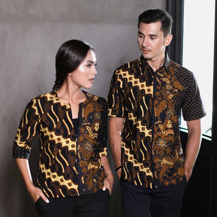 30 Model Batik Couple Modern Modis Kombinasi Terbaru 2019