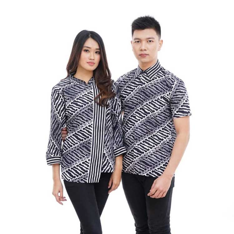 √ 30+ Model Batik Couple Modern Modis Kombinasi Terbaru 2019 de48410d15