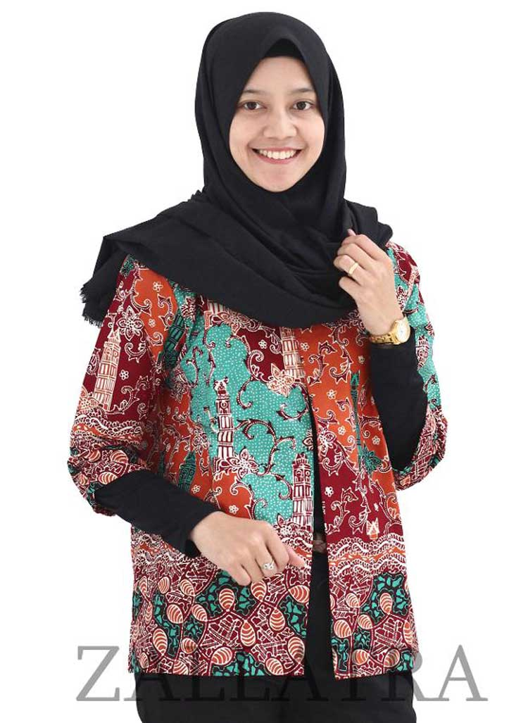 model blazer batik jumput