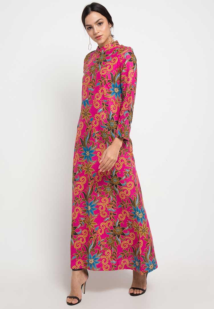 gamis batik formal terbaru