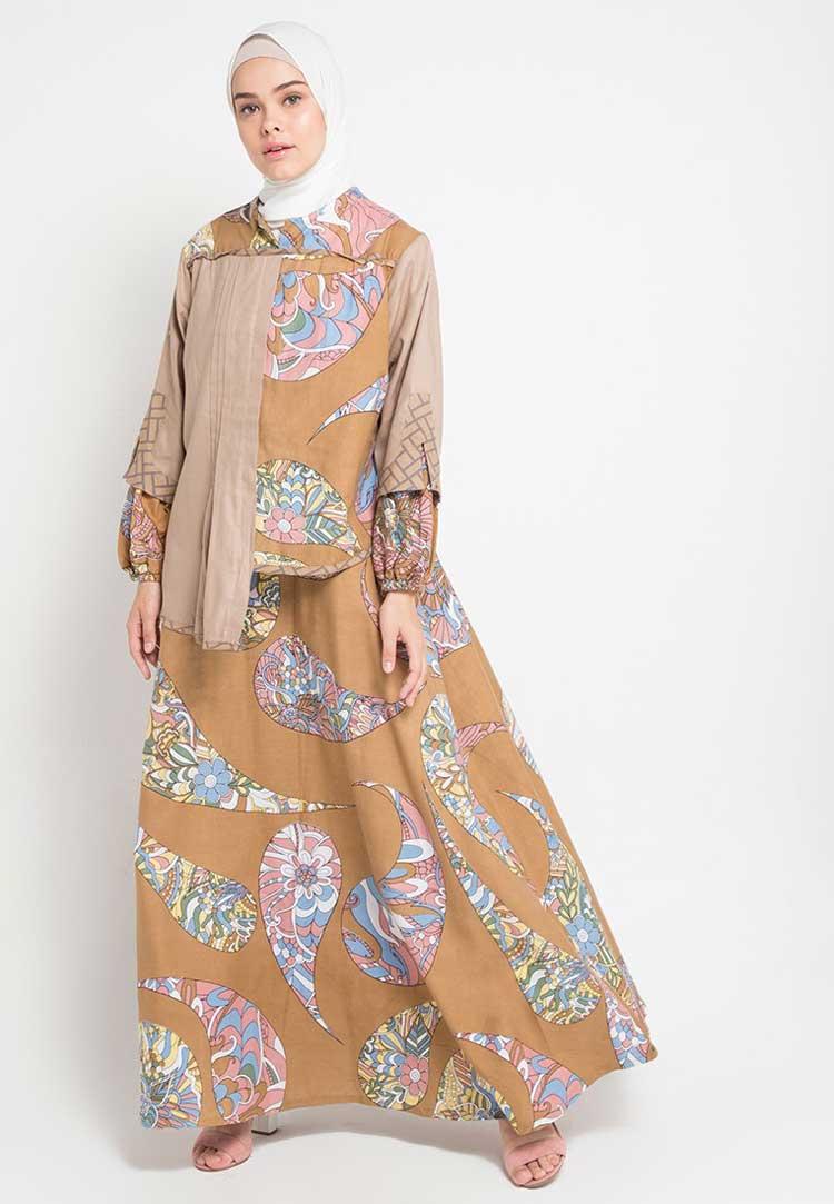 model baju batik muslim yang terbaru