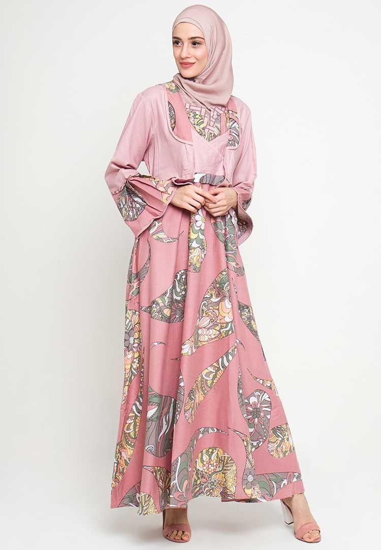 model baju batik muslim wanita terbaru