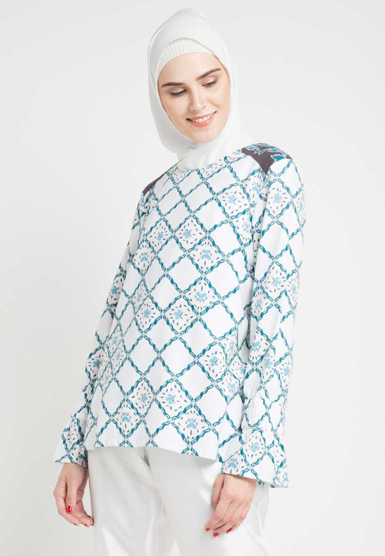 model baju batik muslim shafira