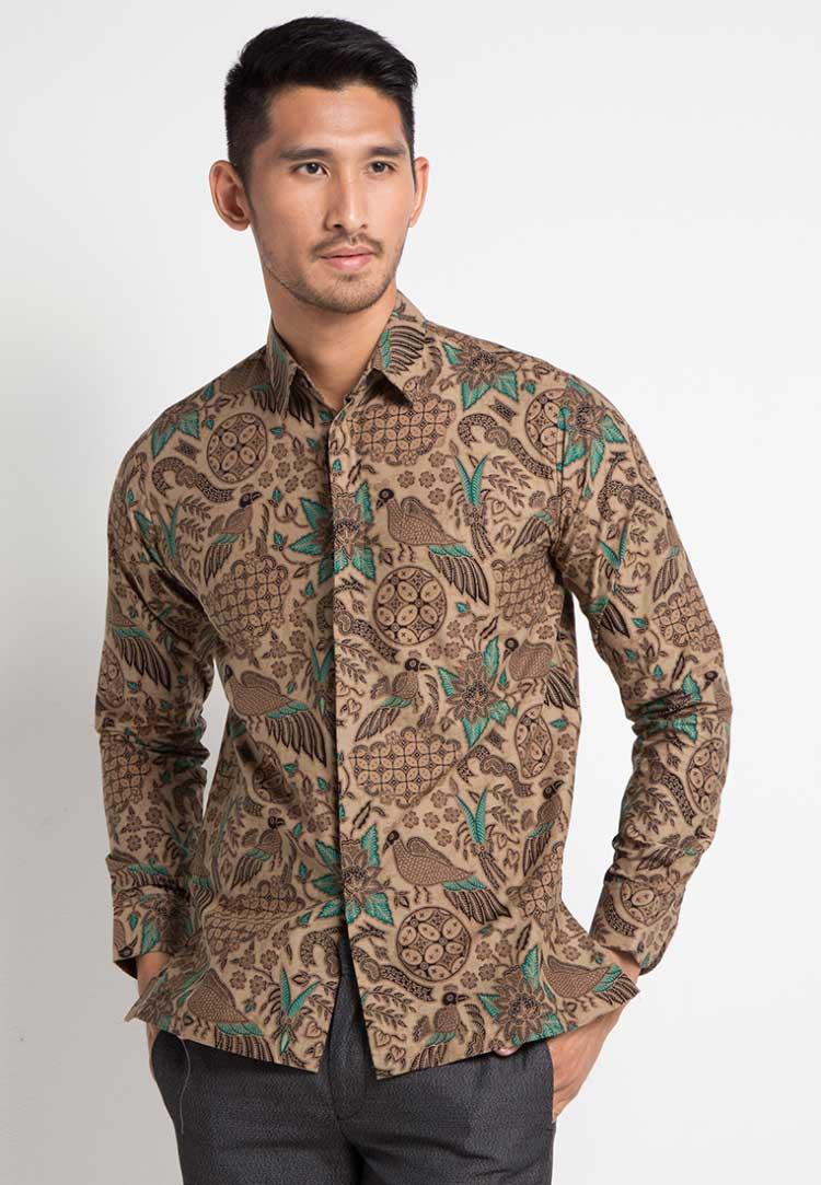 model baju batik pria tanpa kerah