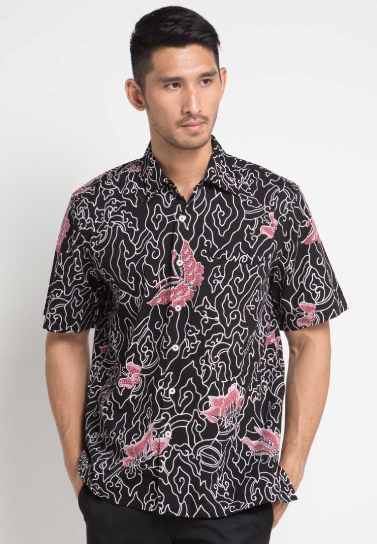 model baju batik pria lengan panjang safari