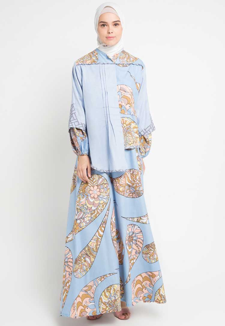 model baju batik muslim yang simple