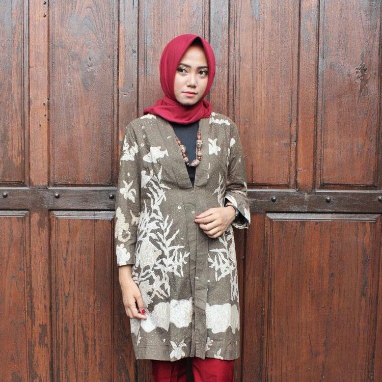 desain baju batik hamil