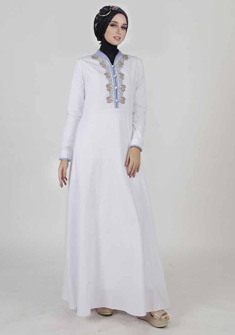 √ 10+ Model Gamis Putih (MEWAH, MODERN, ELEGAN, BROKAT)