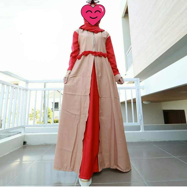 model gamis pesta full brokat