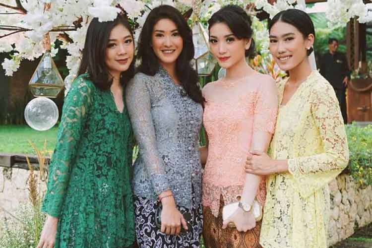 kebaya brokat modern model balon