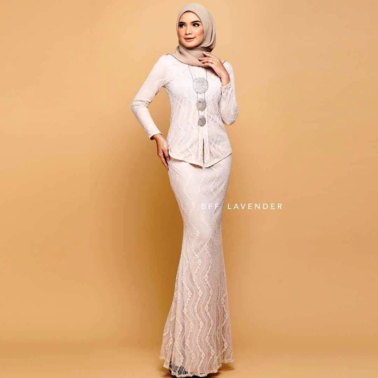 model kebaya simple lengan pendek