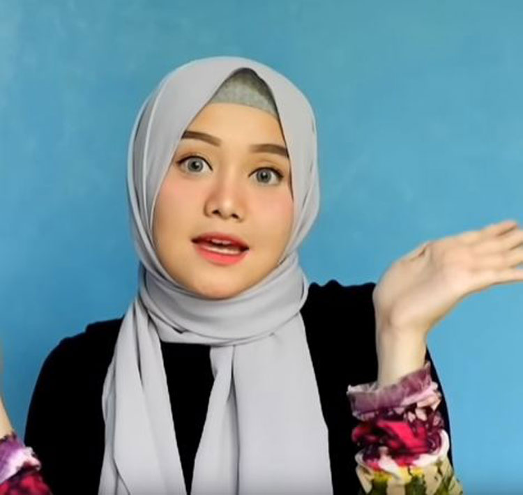 tutorial hijab pashmina remaja simple