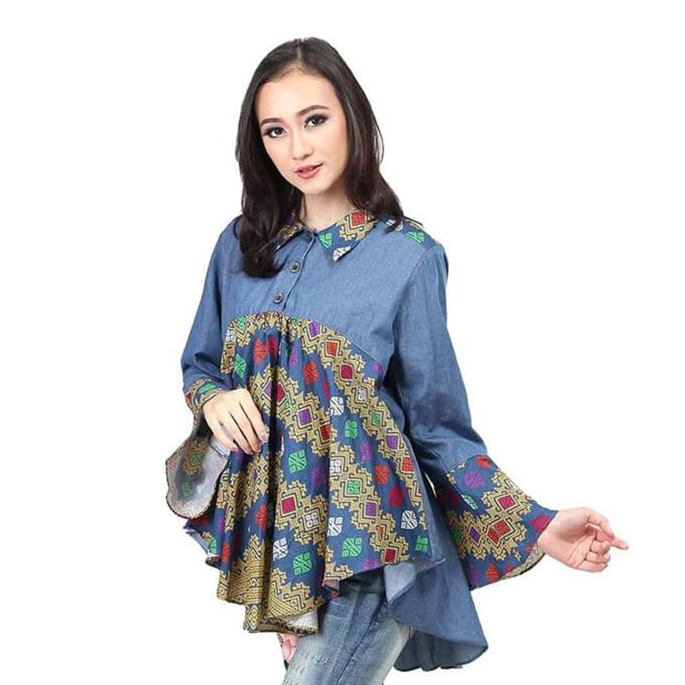 model baju batik wanita formal