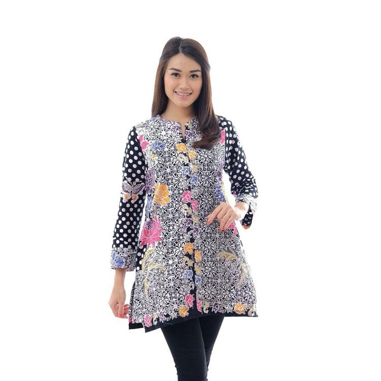 30 Model Baju Batik Wanita Kantor Lengan Panjang Terbaru