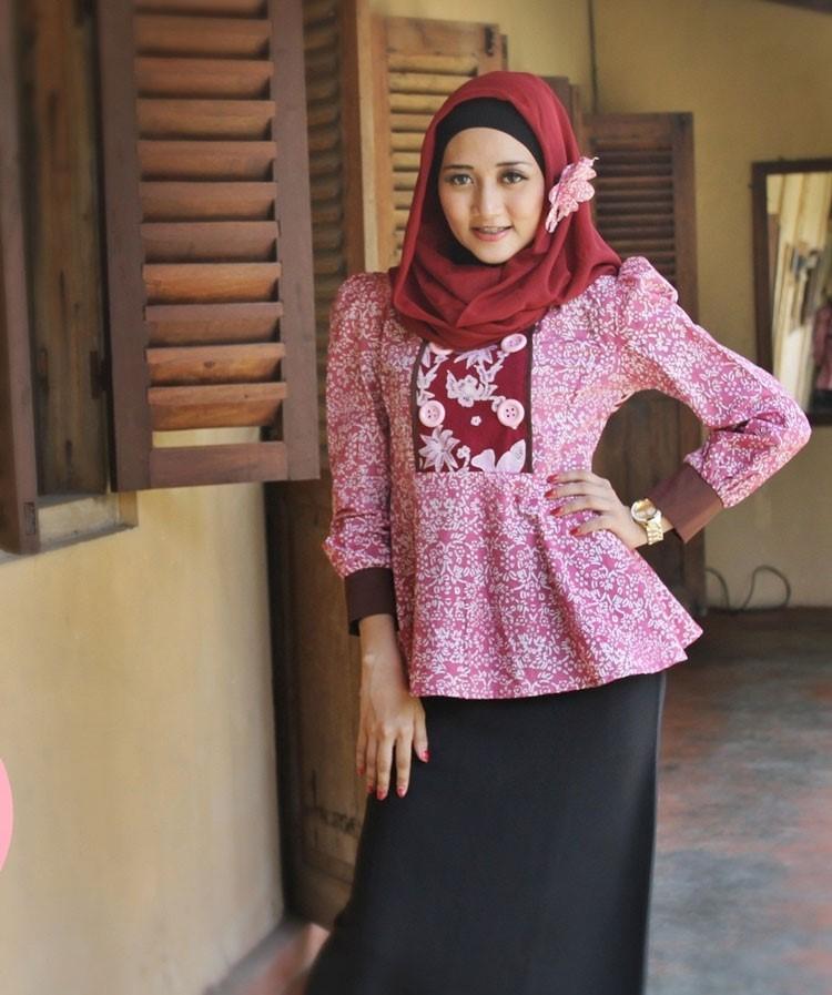model baju batik kantor gamis