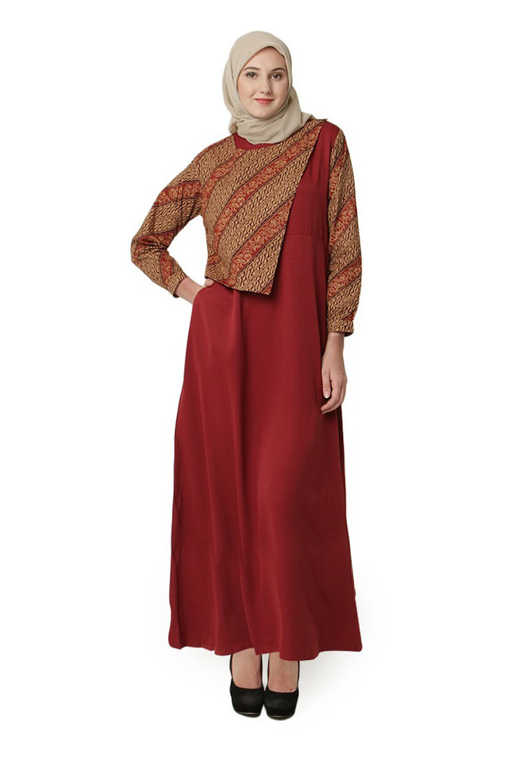 √ 9+ Model Baju Batik Kombinasi (DRESS, GAMIS, POLOS, ATASAN)