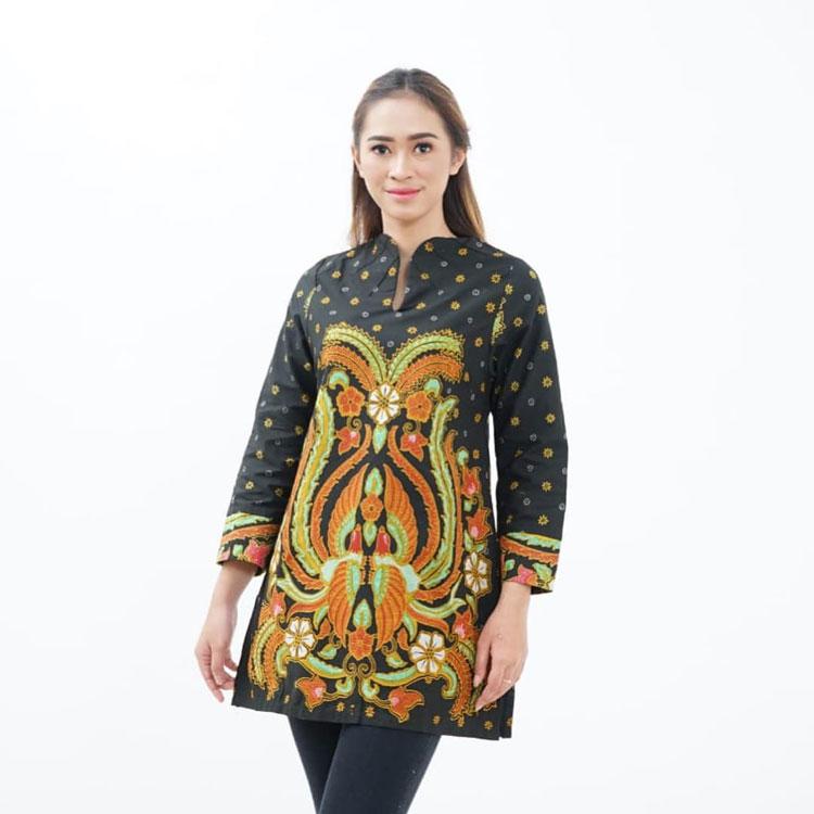 30 model baju batik wanita kantor modern amp lengan panjang