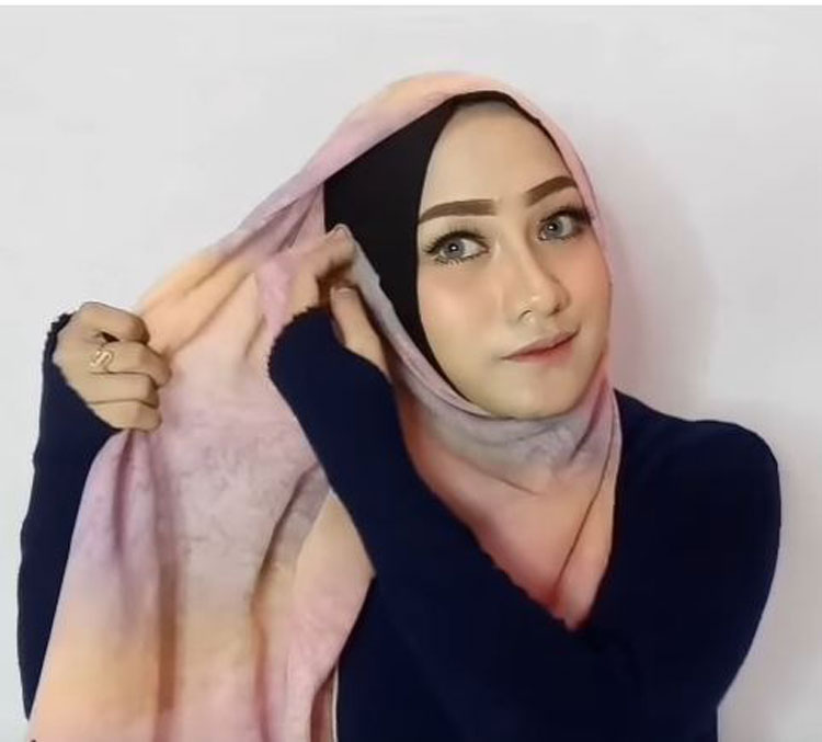 tutorial hijab paris ini vindy