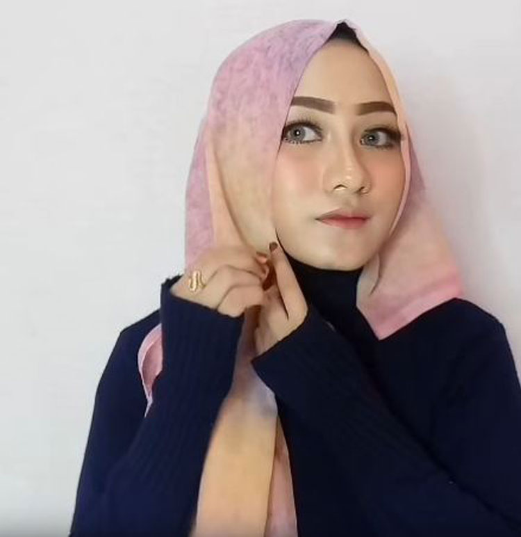 tutorial hijab paris lengkap