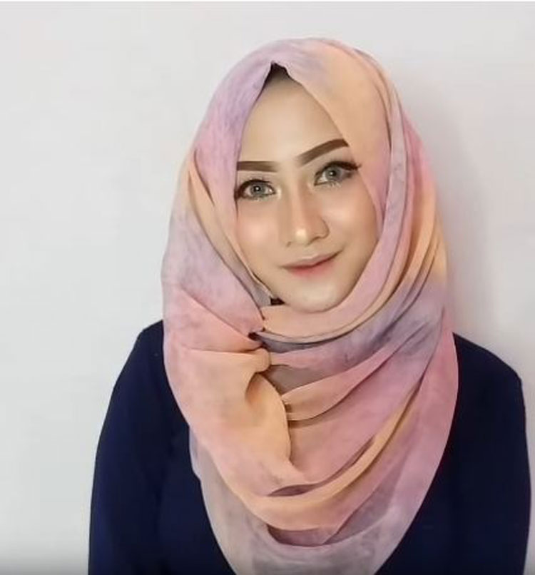 tutorial hijab model paris