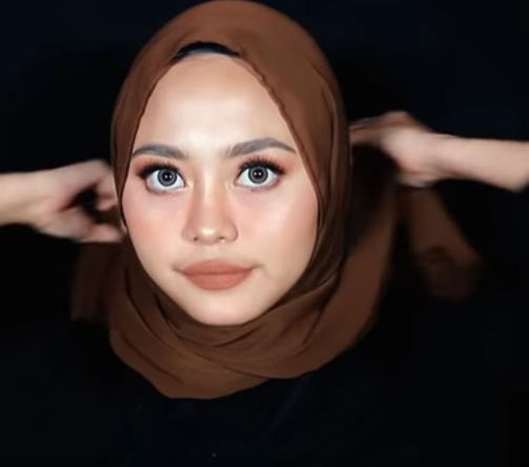 tutorial hijab pashmina yang simple