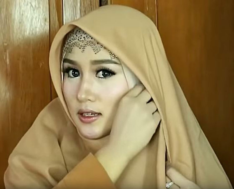 tutorial hijab cantik pesta