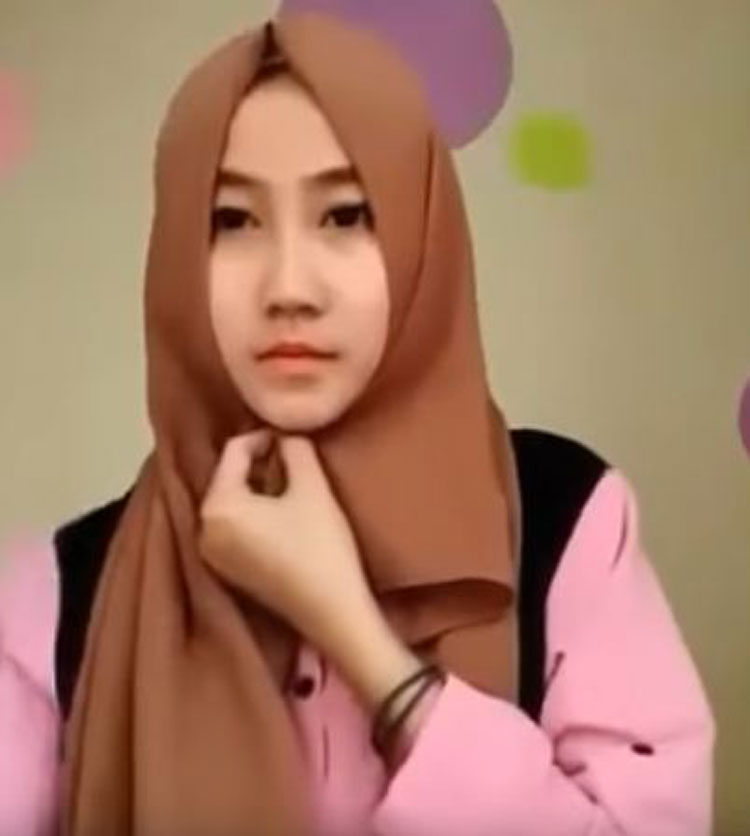tutorial hijab pashmina ima simple