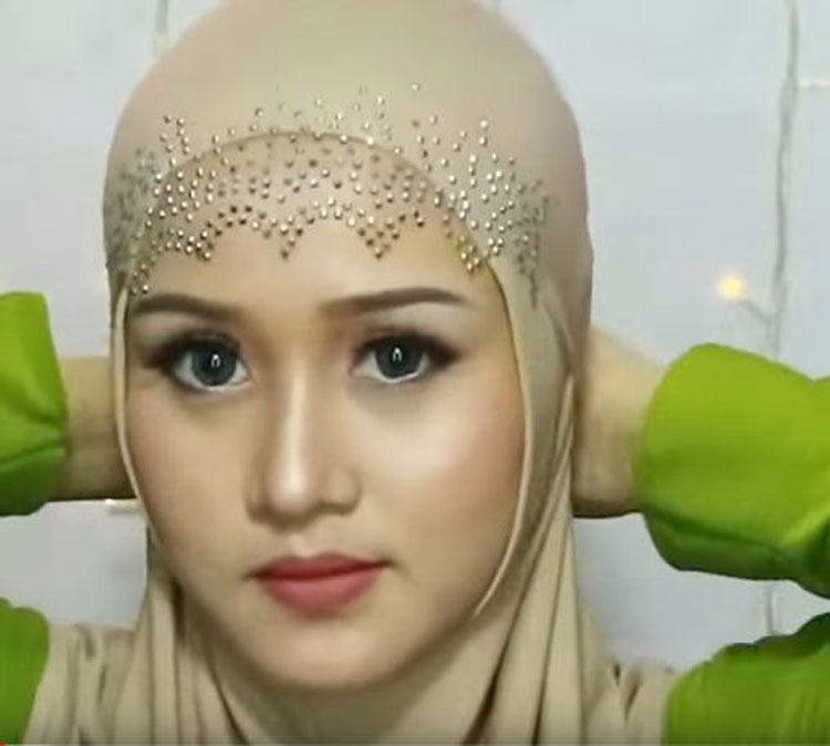 tutorial hijab pesta anak