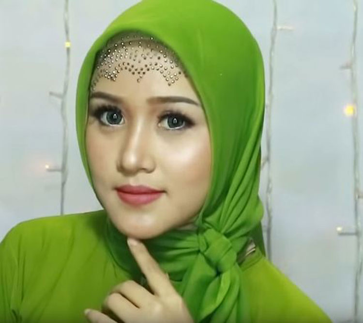 tutorial hijab acara pesta
