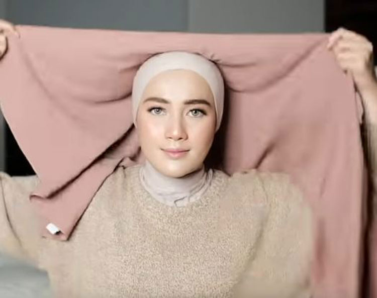 tutorial hijab segi empat simple youtube
