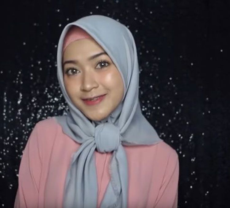 tutorial hijab simple ke pesta pernikahan