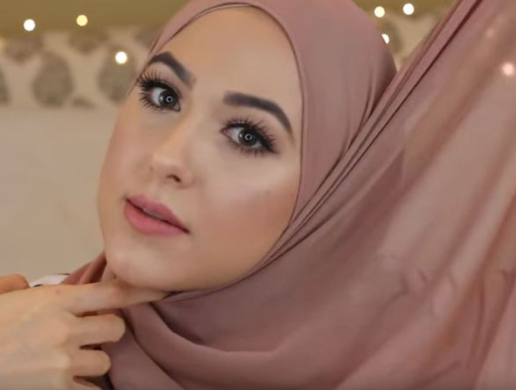 tutorial hijab simple elegant