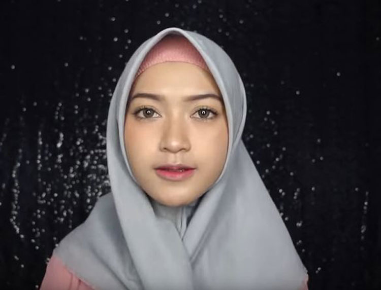 tutorial hijab ima scarf simple