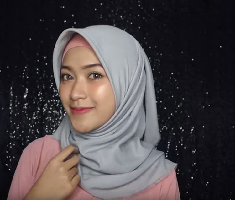 tutorial hijab simple glamour