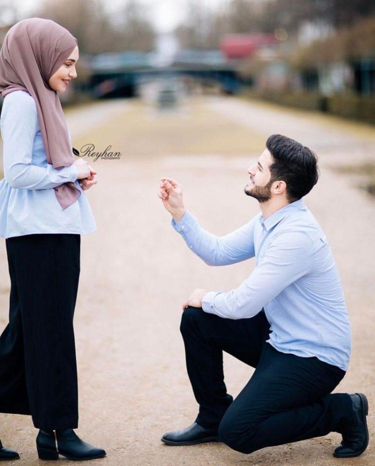prewedding santai hijab