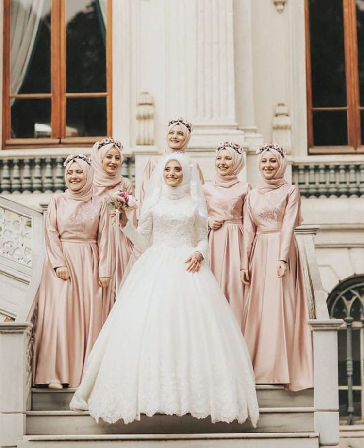 Arabian bridesmaid hijab