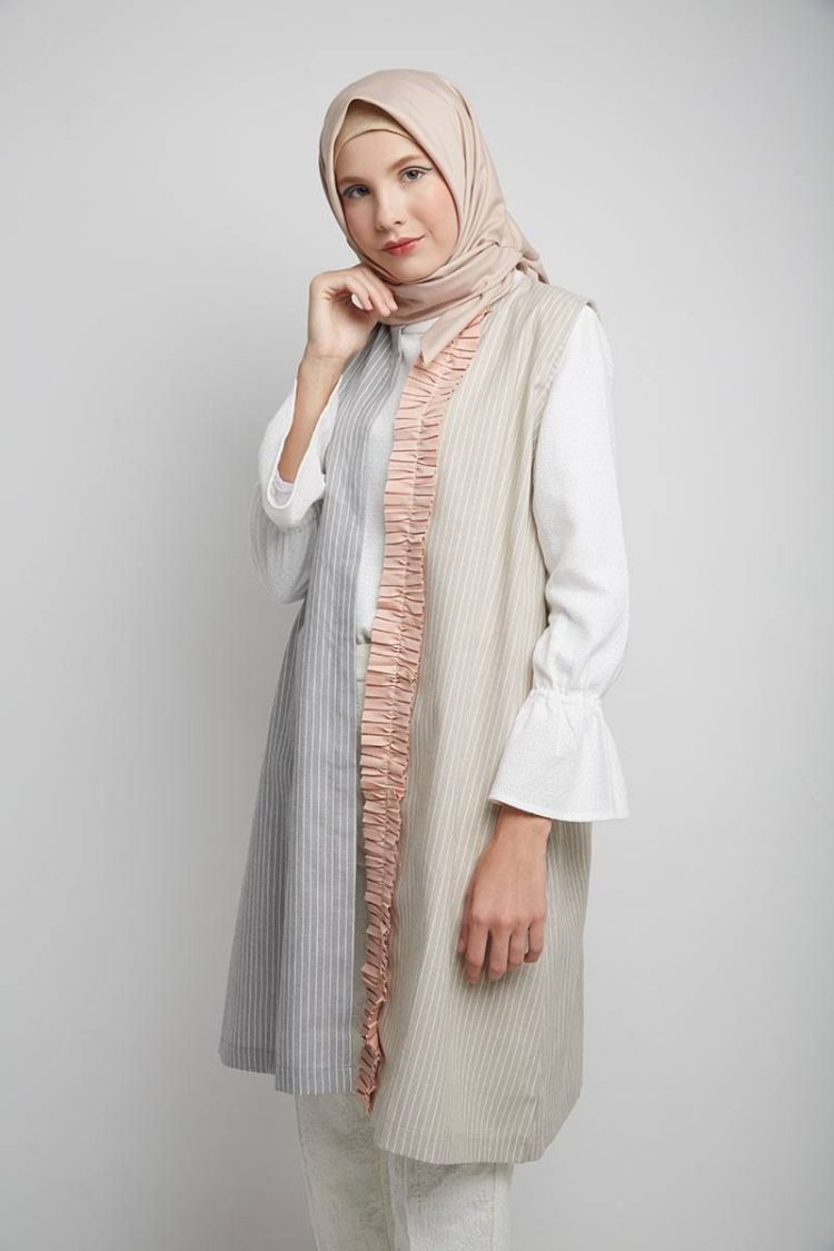 mix dan match outer dan hijab