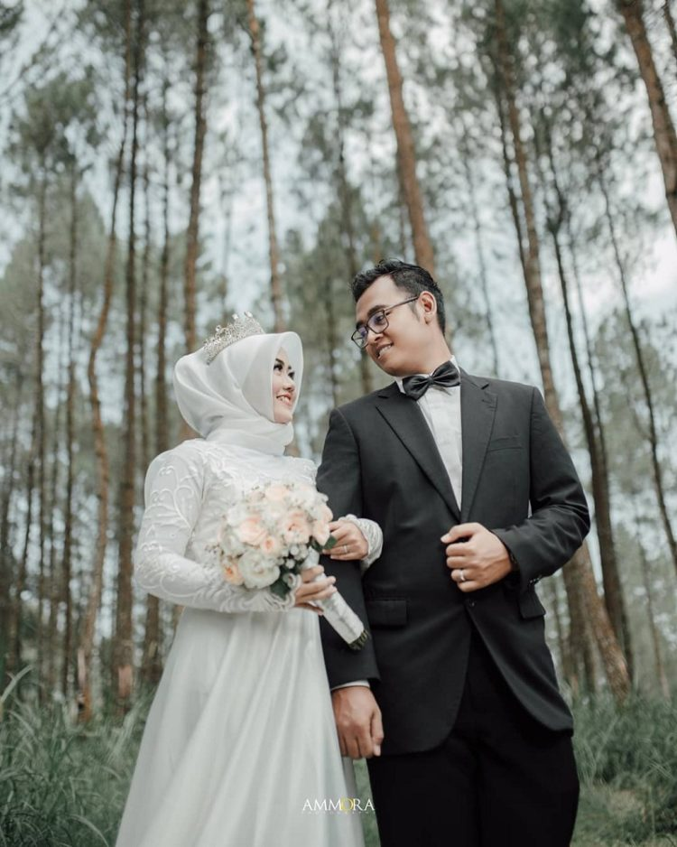 foto prewedding hijab modern