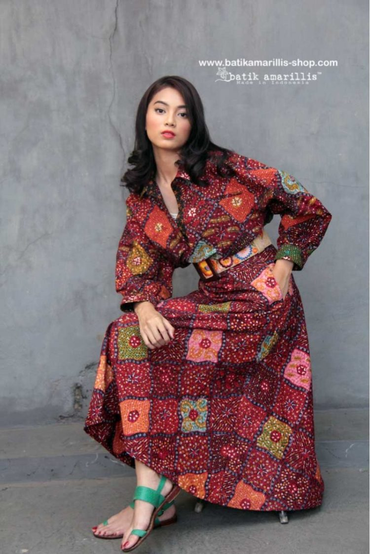long dress batik mewah