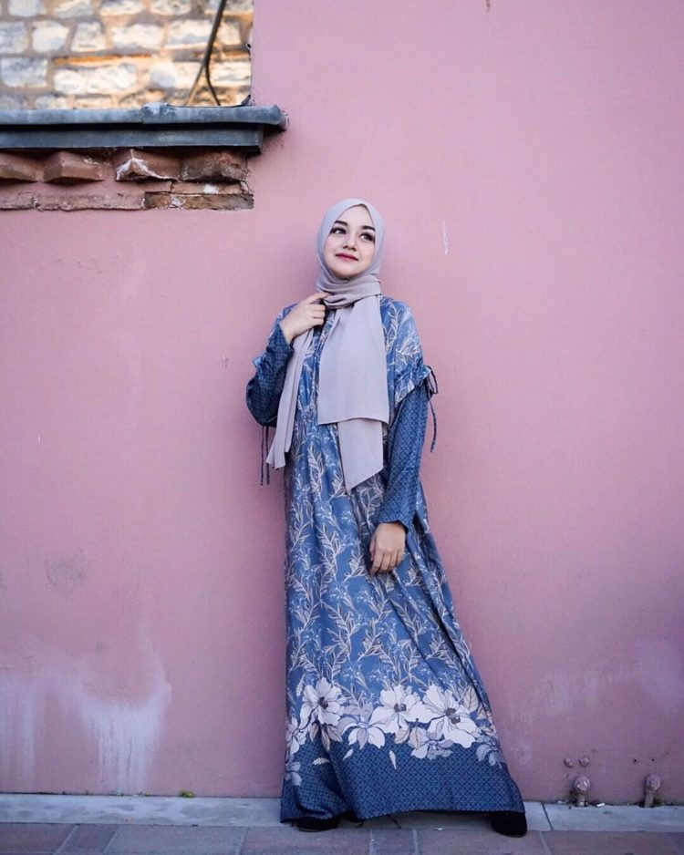 long dress batik lucu
