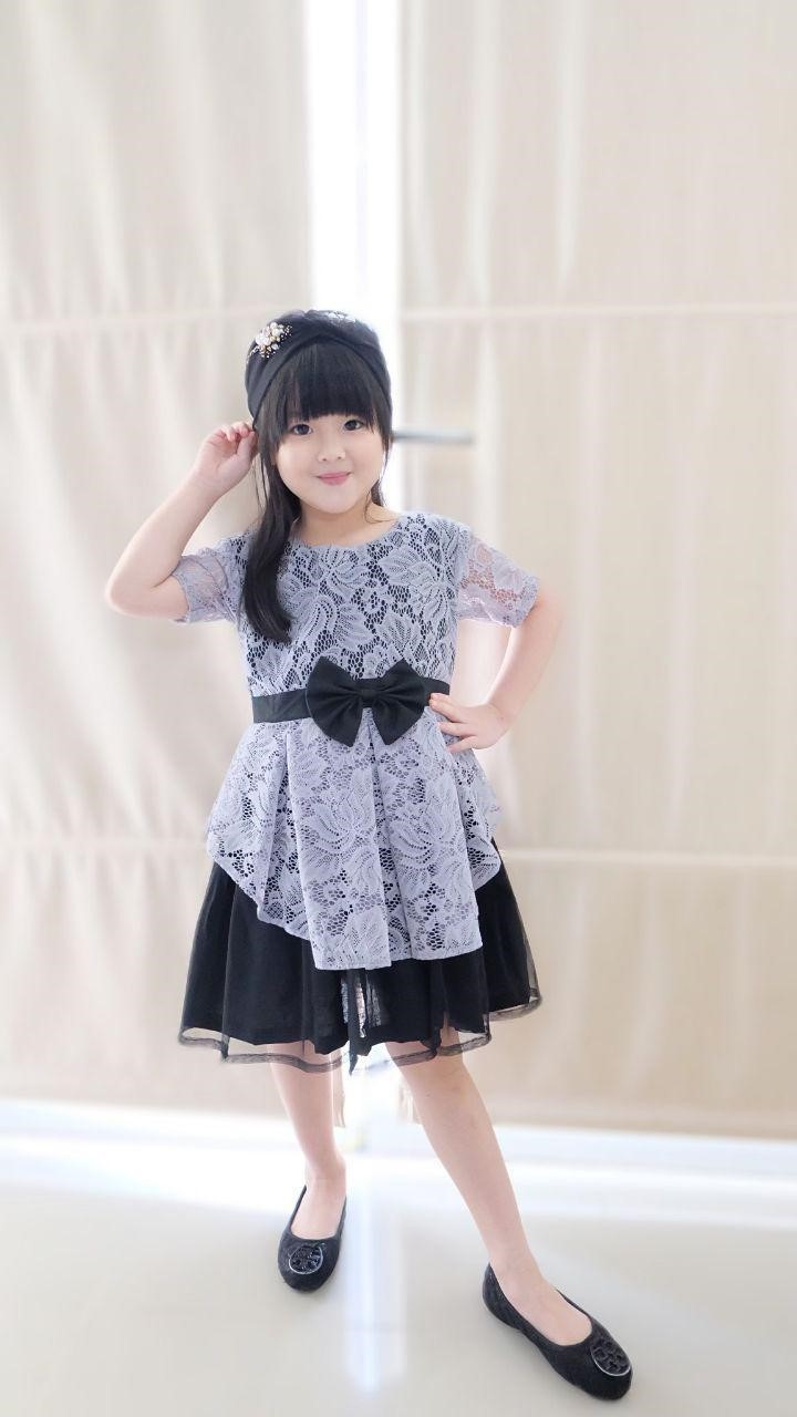 contoh dress anak frozen