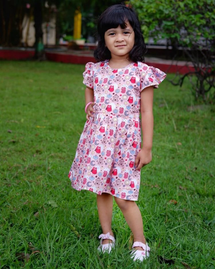 dress anak dari kain perca