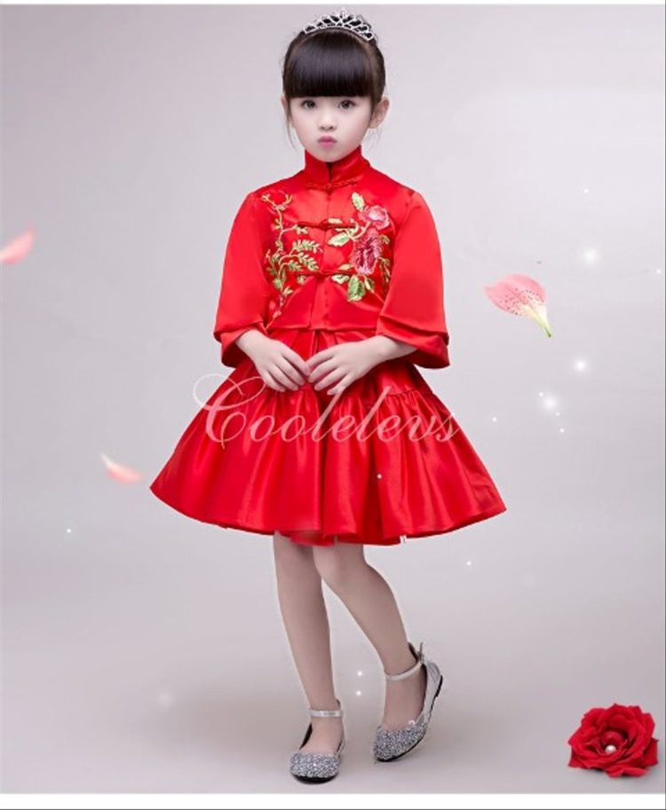 dress cheongsam anak