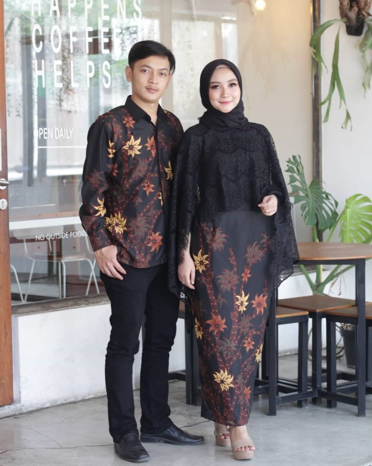 kebaya couple warna hitam