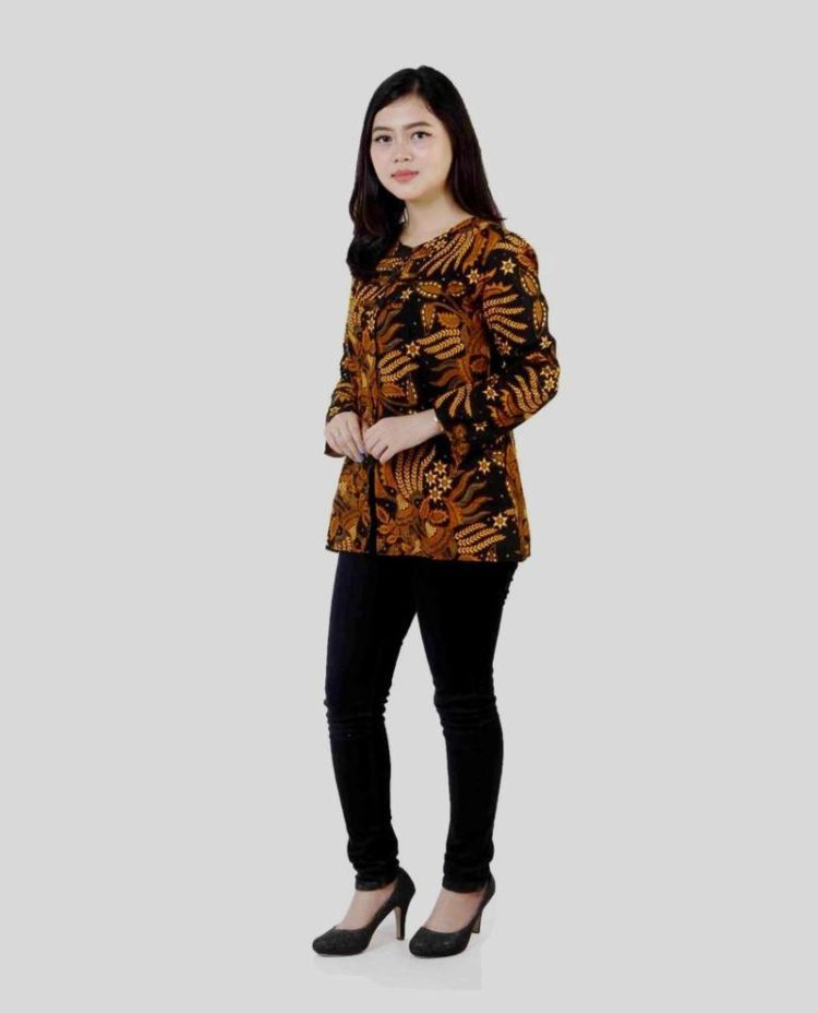model seragam batik formal