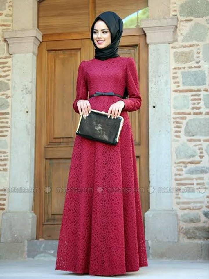 lace dress burgundy