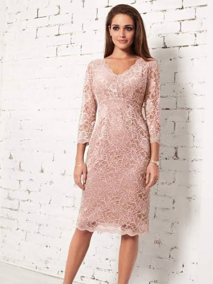a lace evening dress